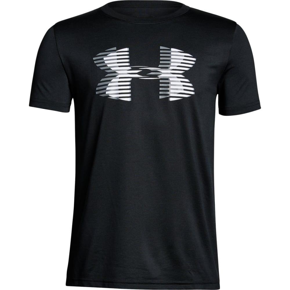 UNDER ARMOUR Big Boys' UA Tech??????? Big Logo Solid Short-Sleeve Tee - BLACK/WHITE-001