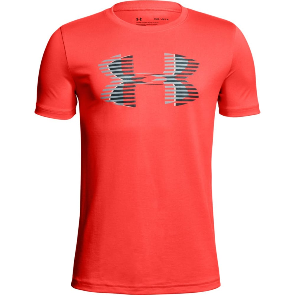 UNDER ARMOUR Big Boys' UA Tech€ž¢ Big Logo Solid Short-Sleeve Tee - NCORAL/GRY-985