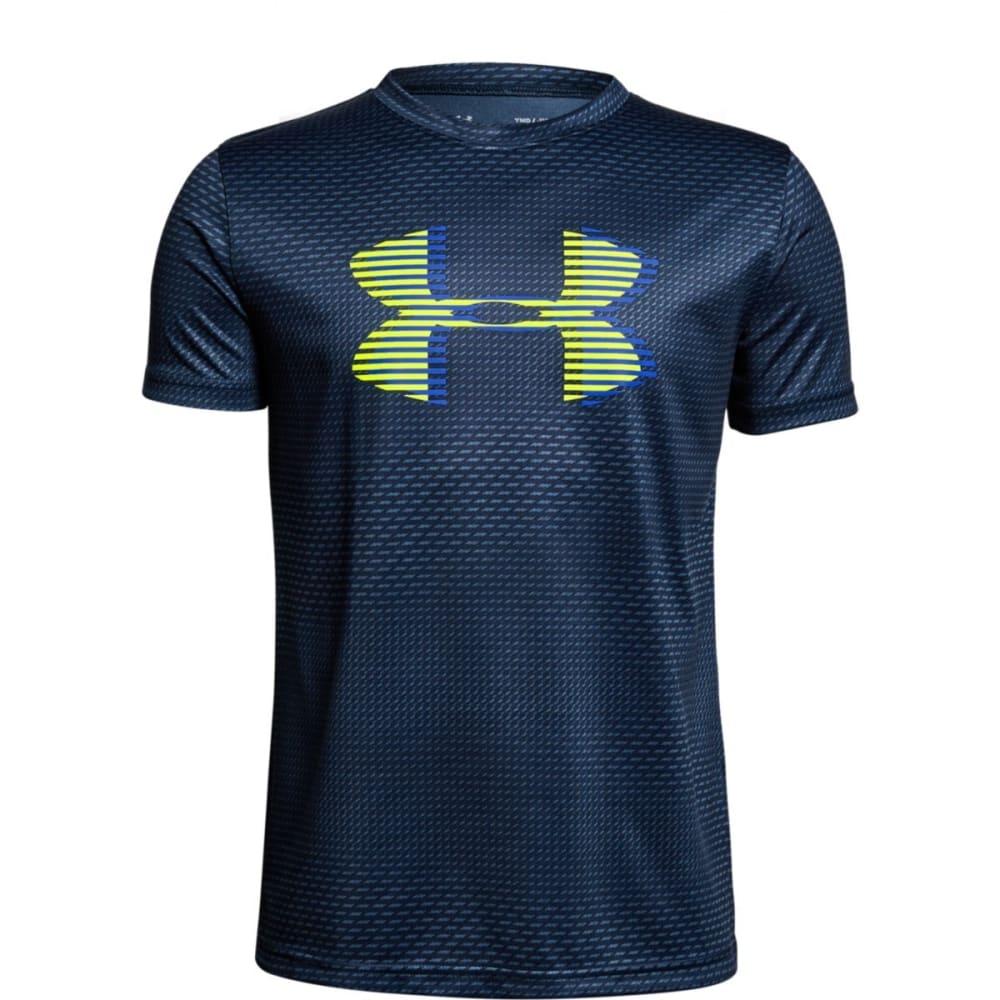 "UNDER ARMOUR Big Boys' UA Tech""¢ Big Logo Printed Short-Sleeve Tee - ACADEMY/YELLOW-408"