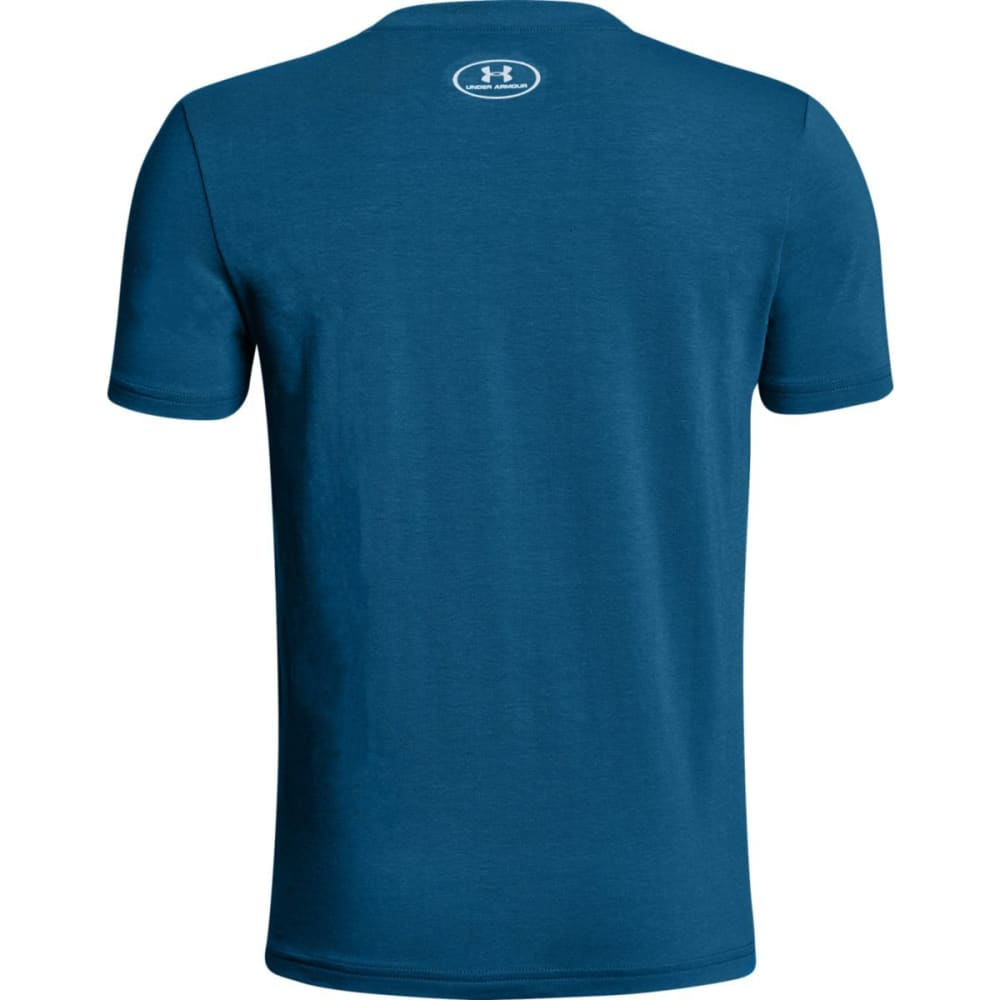 UNDER ARMOUR Boys' Legendary Status Short-Sleeve Tee - MOROCCAN BLUE-487