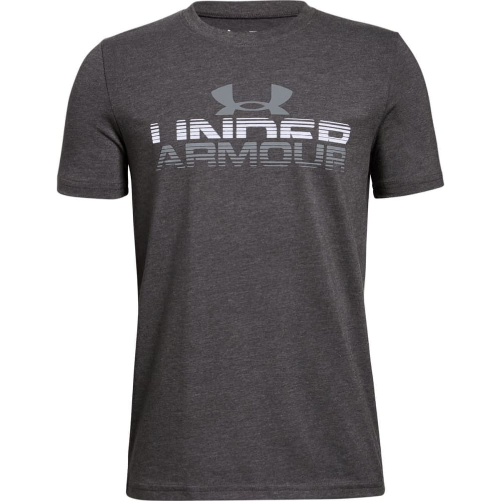 UNDER ARMOUR Big Boys' UA Horizon Logo Short-Sleeve Tee - CHARCOAL HTR-019