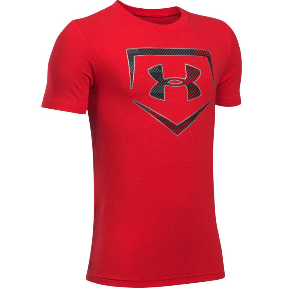 Under Armour Big Boys' Ua Baseball Logo Short-Sleeve Tee - Red, S