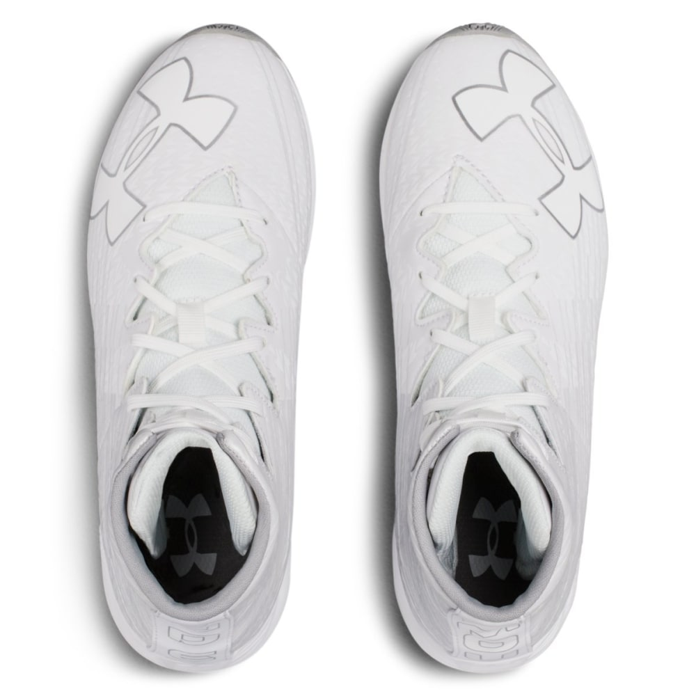 UNDER ARMOUR Kids' UA Highlight Jr. RM Lacrosse Cleats - WHITE