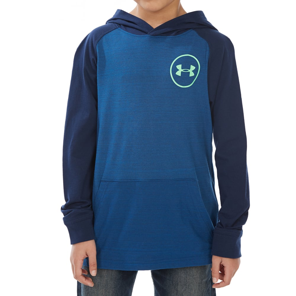 Under Armour Big Boys' Mvp Cotton Tri Hoodie - Blue, XL