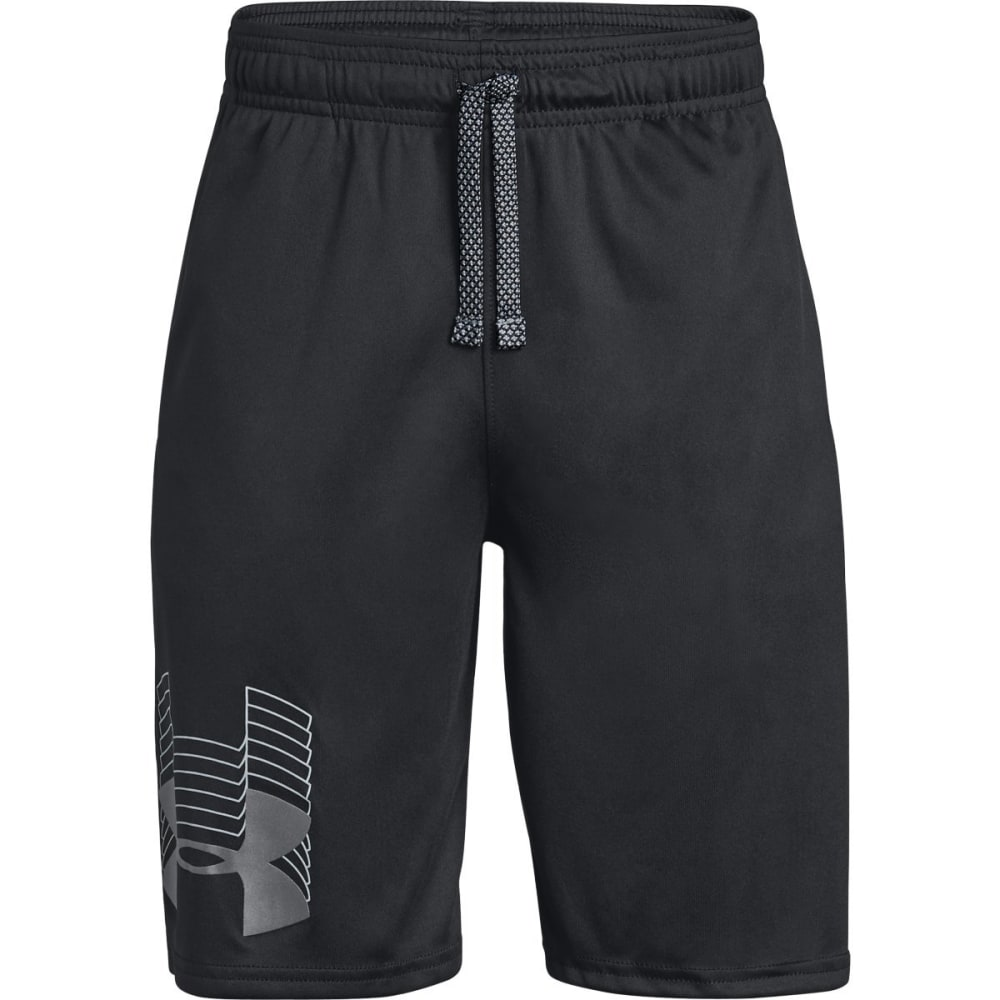 UNDER ARMOUR Big Boys' Prototype Logo Shorts - BLACK/GRPAHITE-001