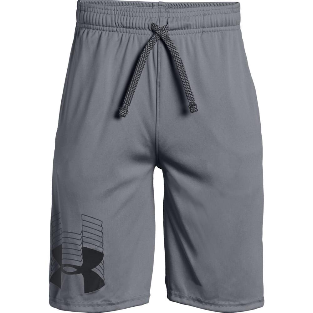 UNDER ARMOUR Big Boys' Prototype Logo Shorts - STEEL/BLACK-035