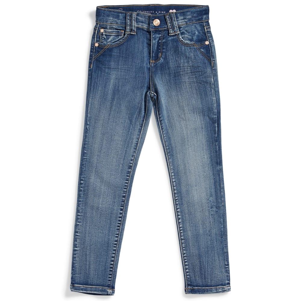CELEBRITY PINK Girls' Super-Soft Denim Skinny Jeans - AZURE WASH