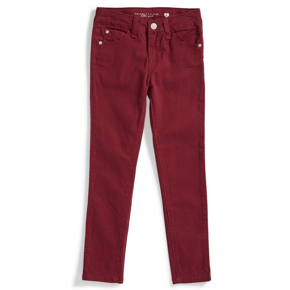 CELEBRITY PINK Girls' Soft Stretch Twill Pants - RHODODENDRON