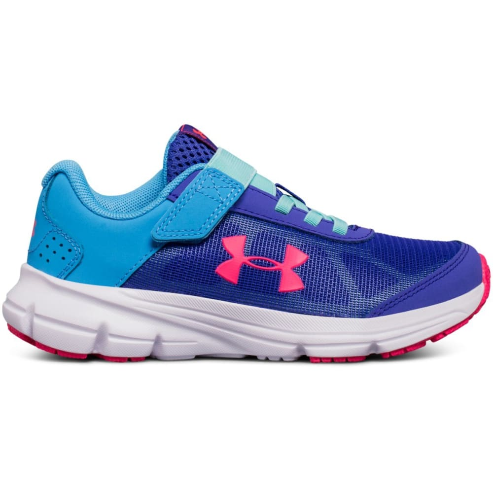 UNDER ARMOUR Little Girls' Preschool UA Rave 2 Running Shoes - BLUE
