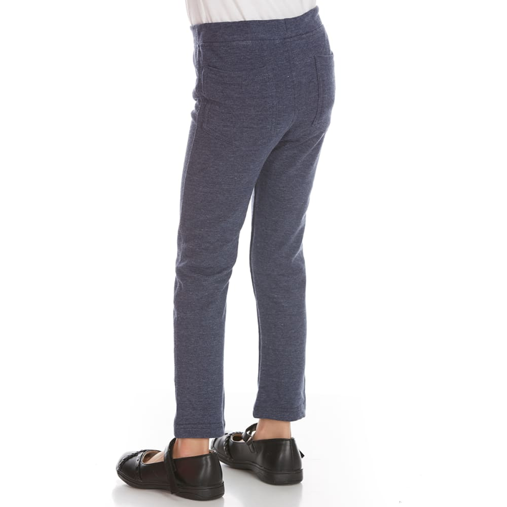 FREESTYLE Girls' Denim/Indian Dreams French Terry Jeggings, 2-Pack - DENIM/INDIAN DREAMS