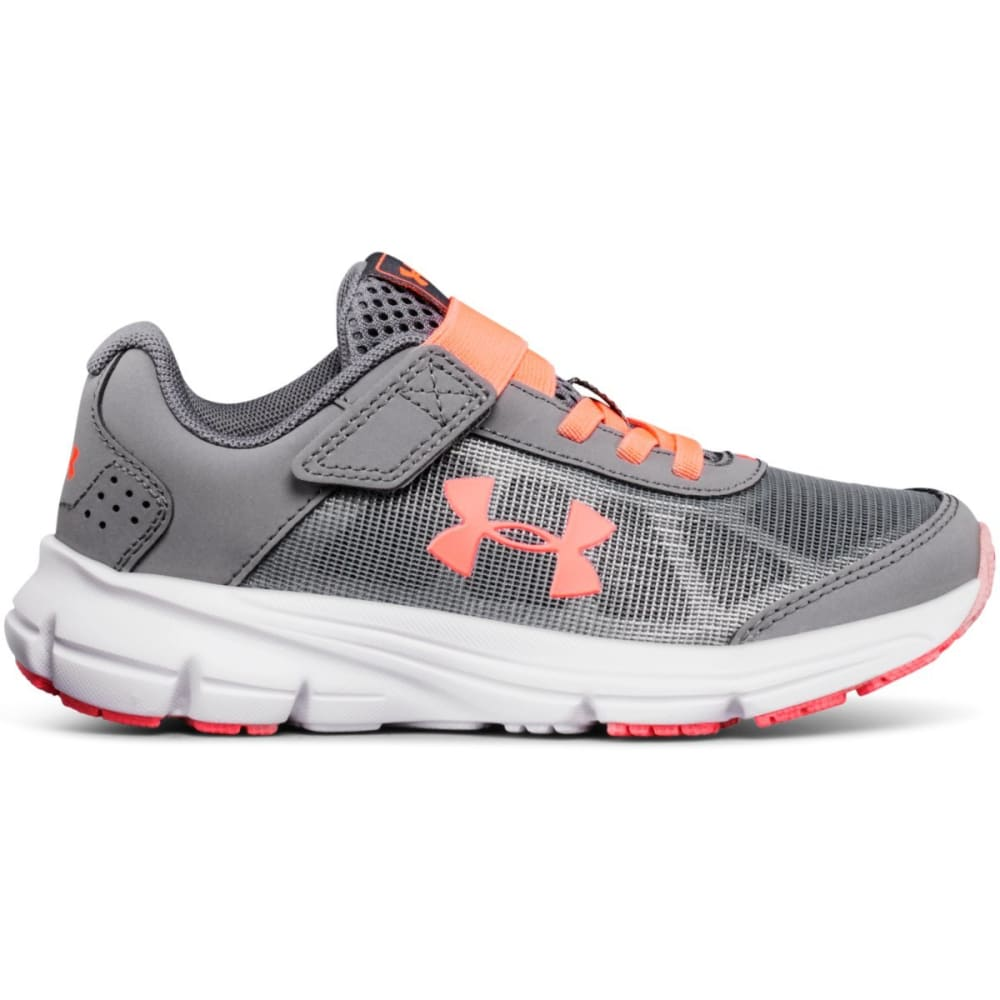UNDER ARMOUR Girls' Preschool UA Rave 2 Running Shoes - GREY