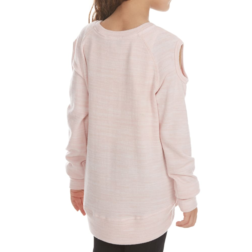 FREESTYLE Girls' Girl Squad Cold-Shoulder Fleece Pullover - PINK