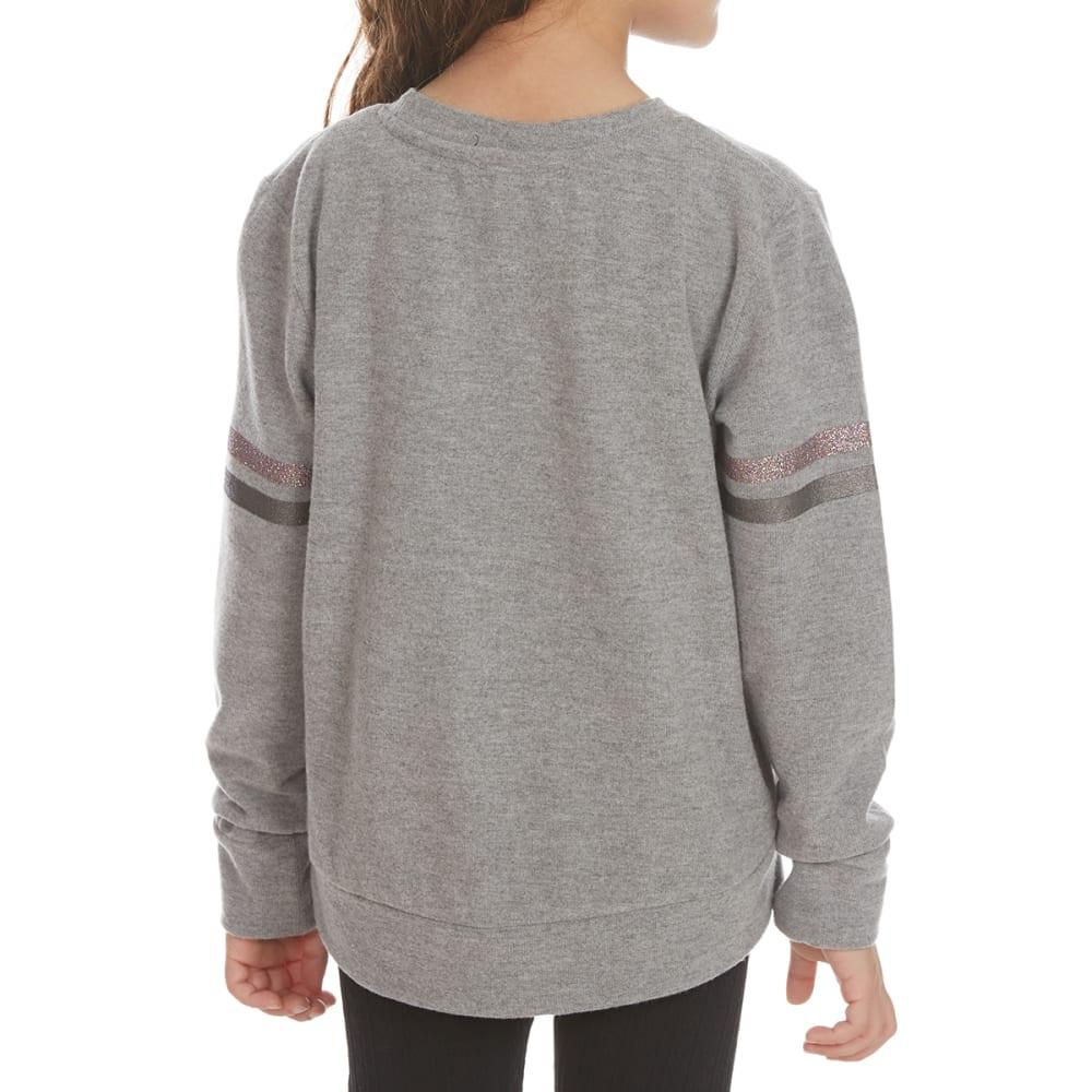 FREESTYLE Girls' Girl Power Varsity Power Fleece Pullover - HEATHER GREY