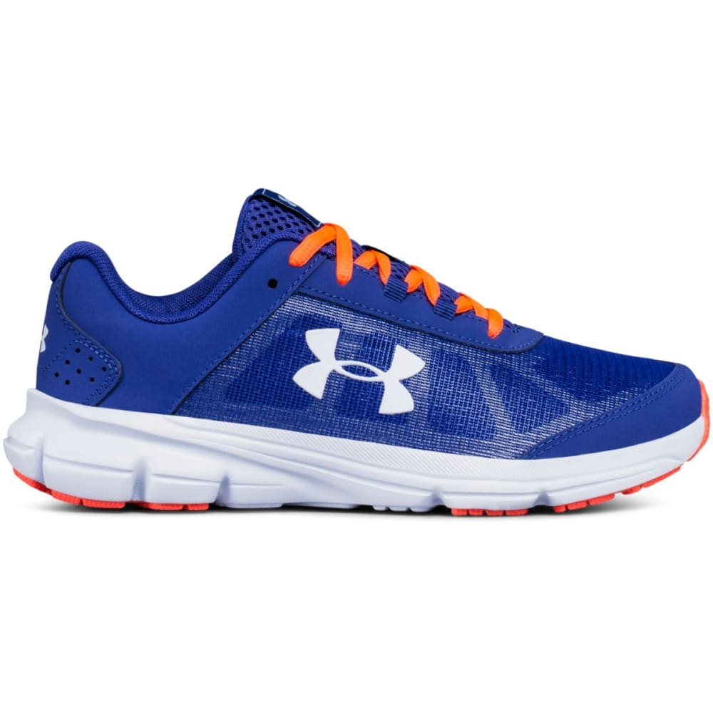 Under Armour Girls' Grade School Ua Rave 2 Running Shoes - Blue, 3.5