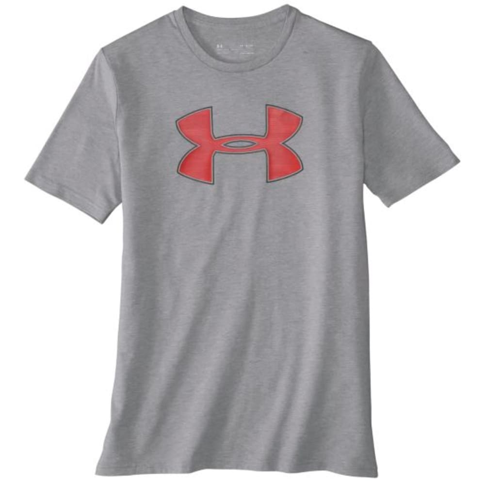 UNDER ARMOUR Men's UA Big Logo Short-Sleeve Tee - STEEL/PIERCE-035