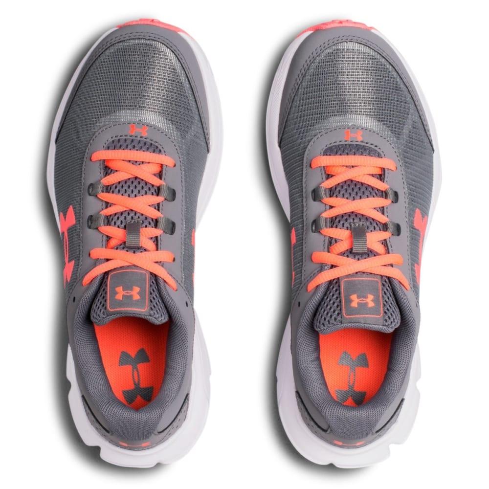 UNDER ARMOUR Girls' Grade School UA Rave 2 Running Shoes - GREY