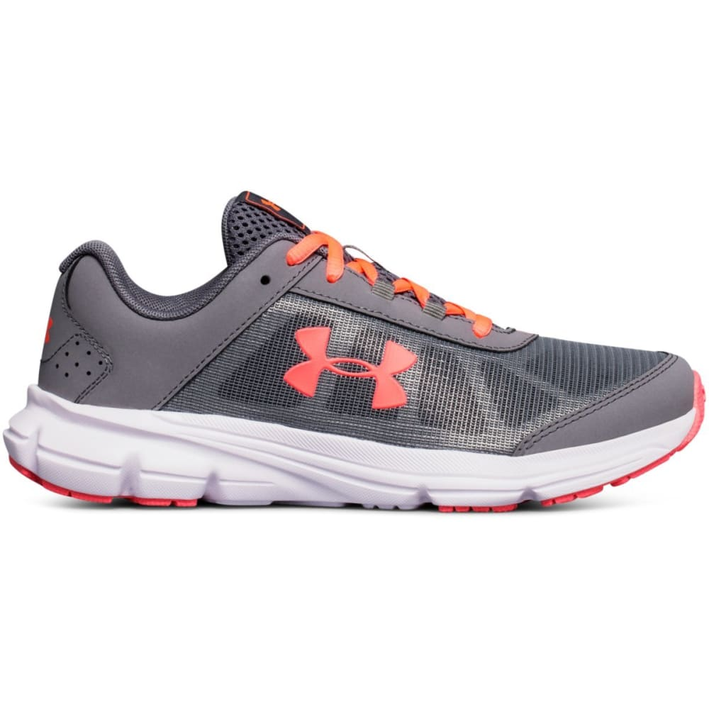 UNDER ARMOUR Girls' Grade School UA Rave 2 Running Shoes - GREY