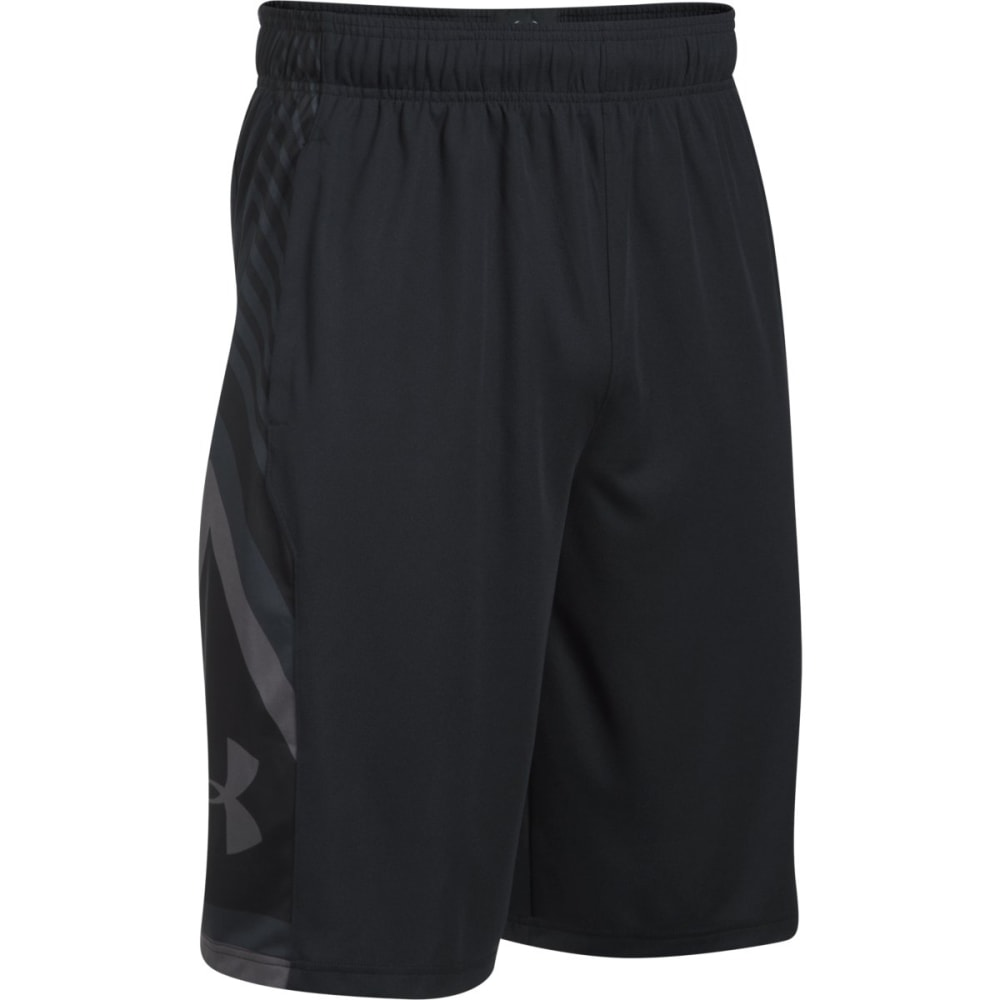UNDER ARMOUR Men's UA Space the Floor Basketball Shorts - BLACK/BLACK-001
