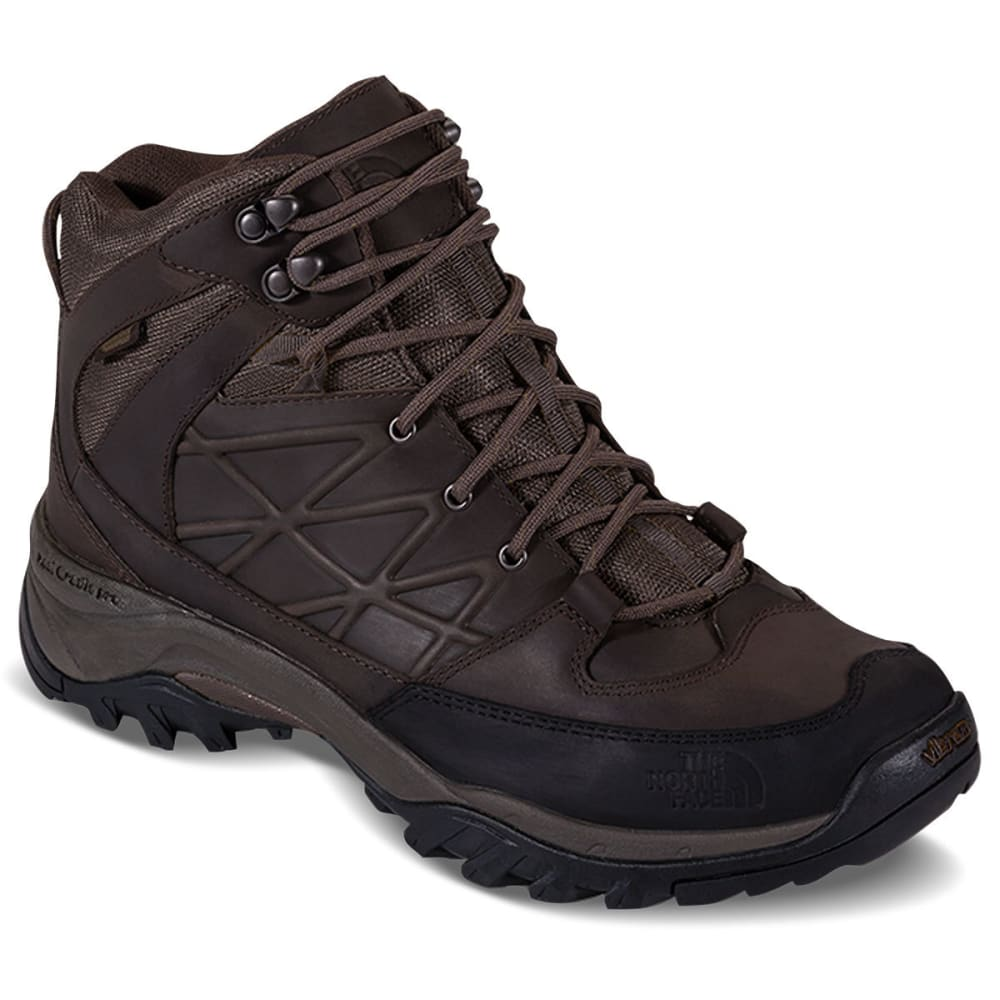 THE NORTH FACE Men's Storm Mid Waterproof Leather Hiking Boots, Coffee Brown 8