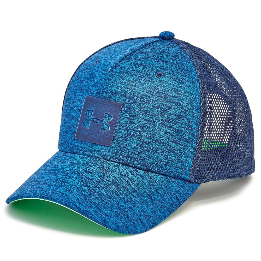 UNDER ARMOUR Men's Closer Trucker 2.0 Hat - ACADEMY BLUE 408