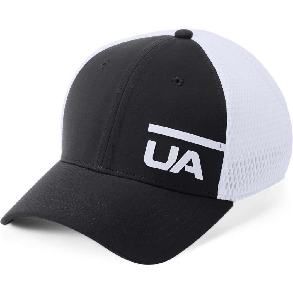 UNDER ARMOUR Men's Spacer Mesh Train Cap - BLACK/WHITE-001