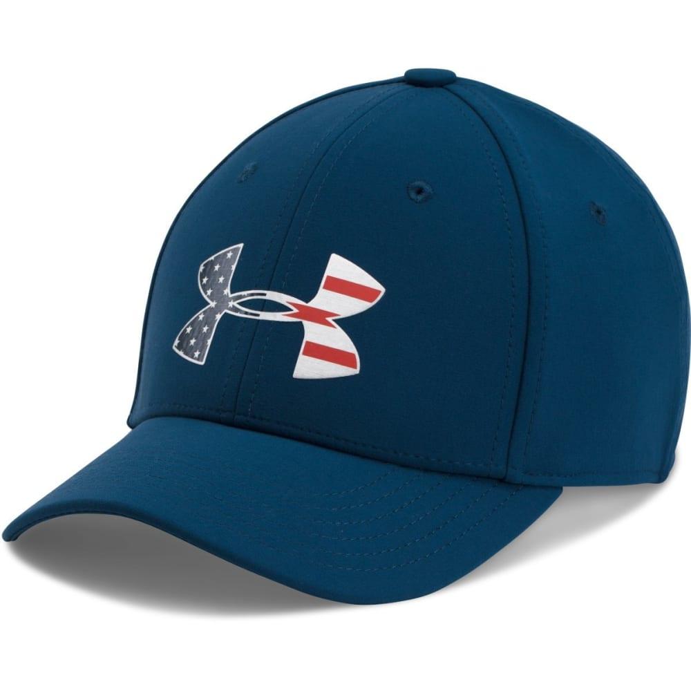 Under Armour Big Boys' Ua Freedom Low Crown Stretch Fit Cap - Blue, S/M