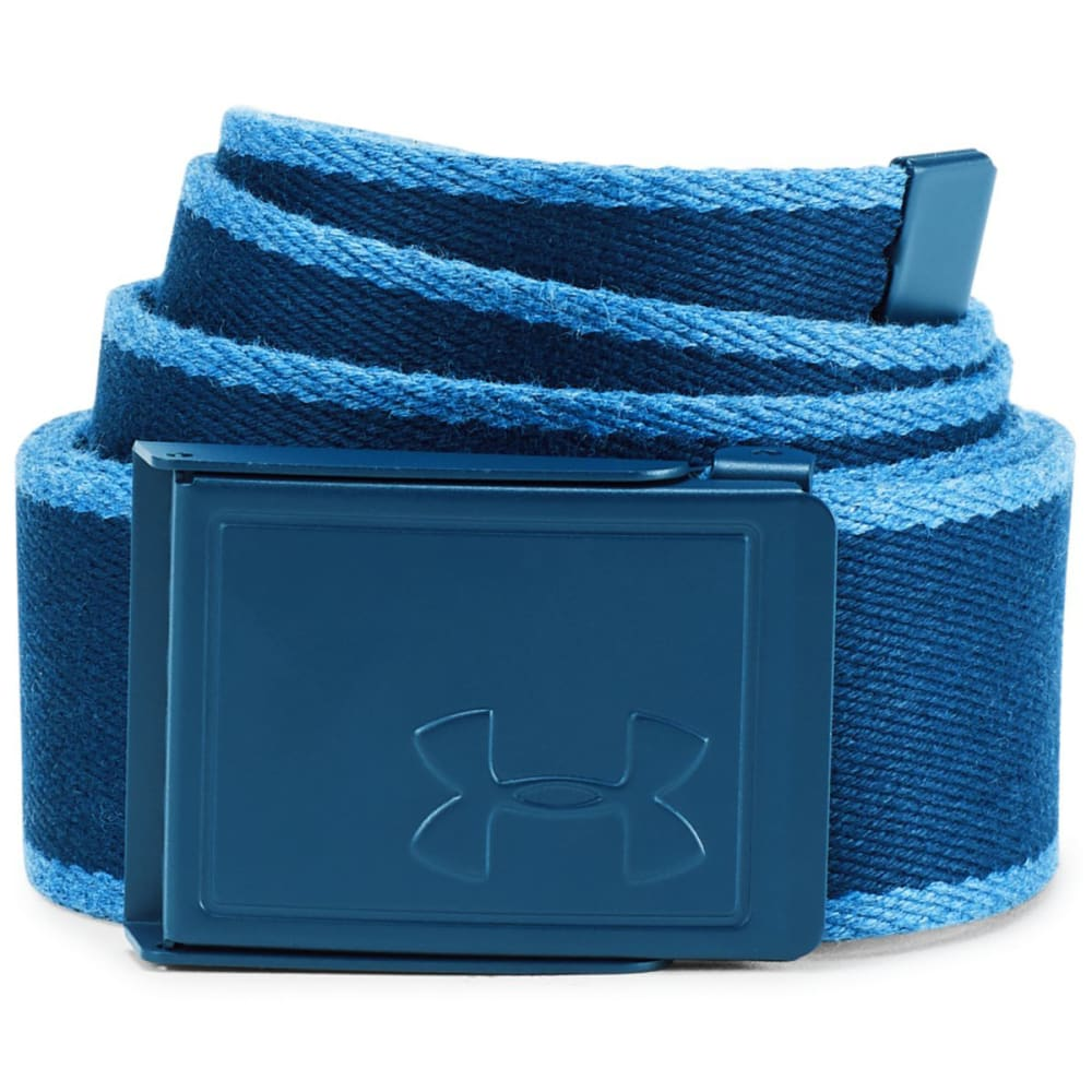 Under Armour Men's Ua Webbing Patterned Belt - Blue, ONESIZE
