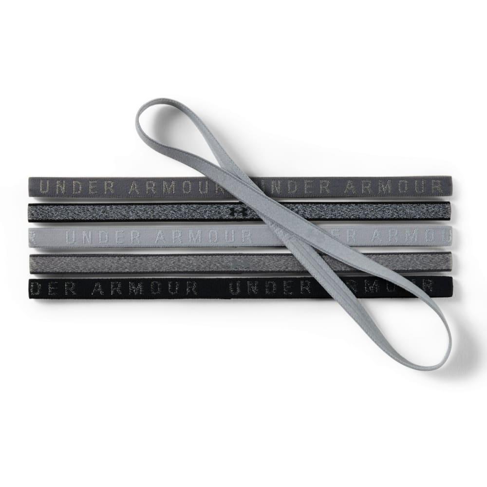 UNDER ARMOUR Women's Mini Heathered Handbands, 6-Pack - OVERCAST GREY 941