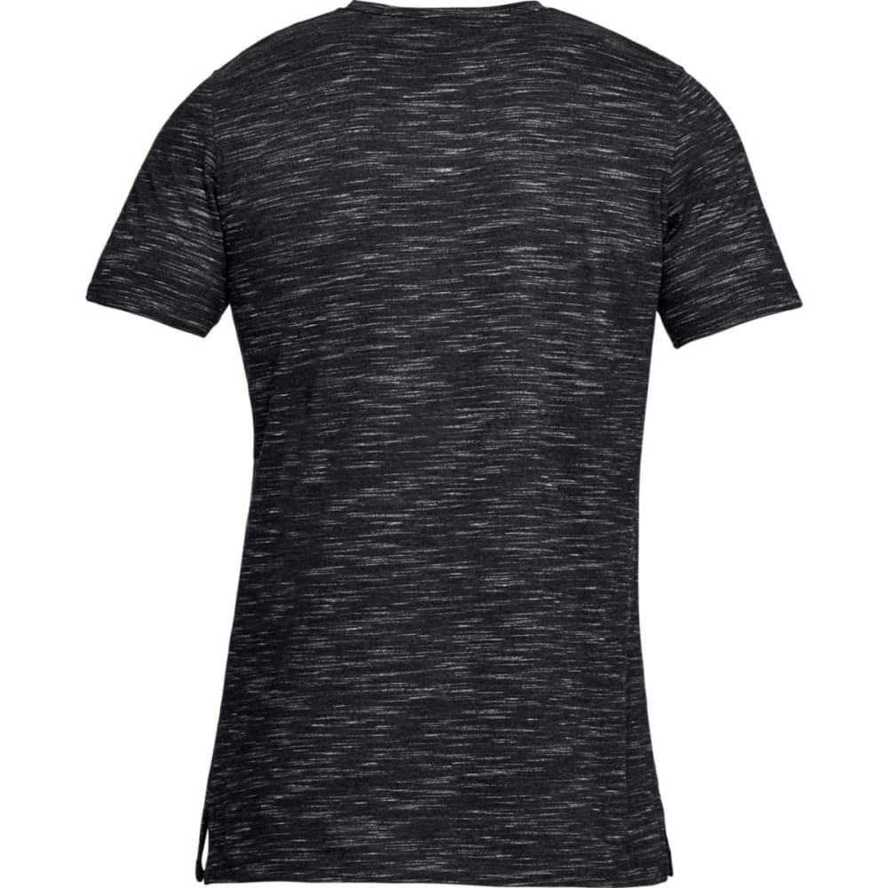 UNDER ARMOUR Men's UA Sportstyle Core V-Neck Short-Sleeve Tee - BLACK/WHITE-001