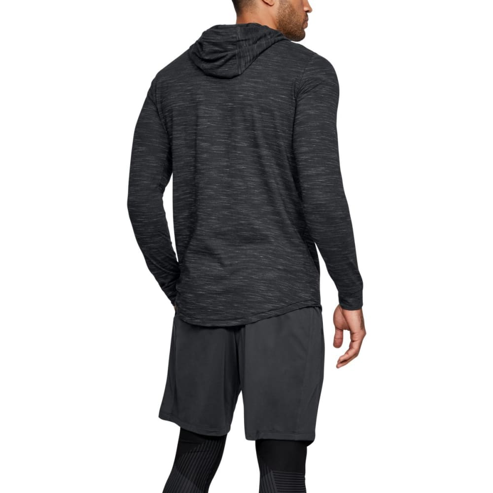 UNDER ARMOR Men's Sportstyle Core Hoodie - BLACK/GRAPHITE-001