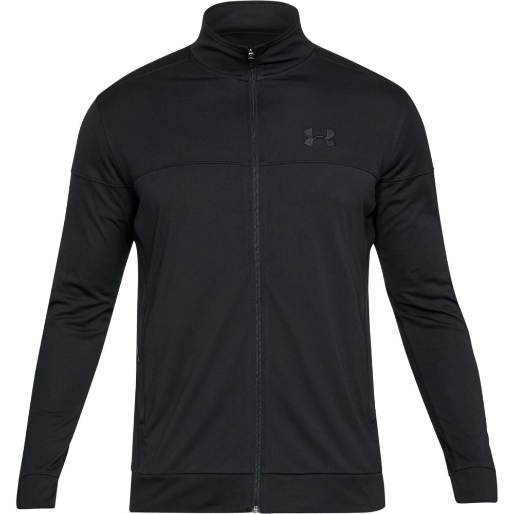 UNDER ARMOUR Men's UA Sportstyle Pique Jacket - BLACK/BLACK-001