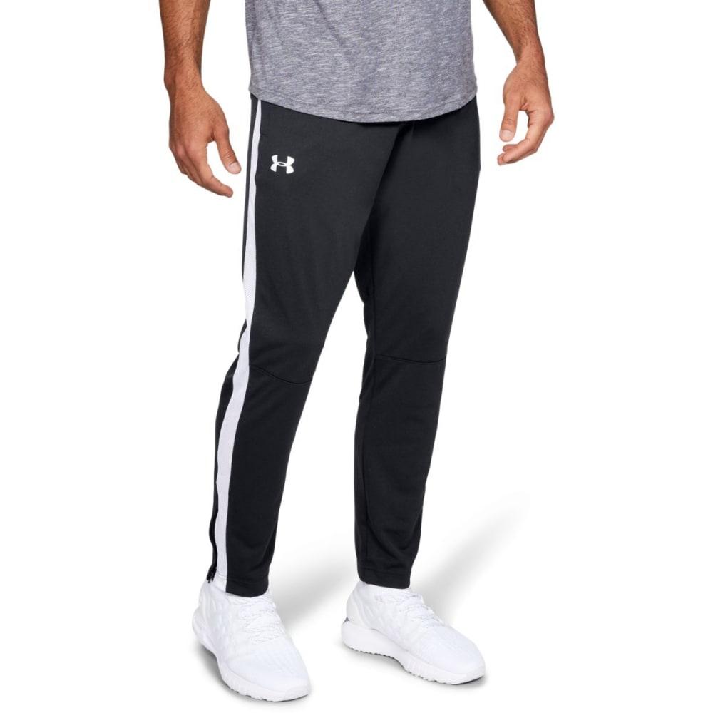 UNDER ARMOR Men's Sportstyle Pique Pants - BLACK/BLACK-001`