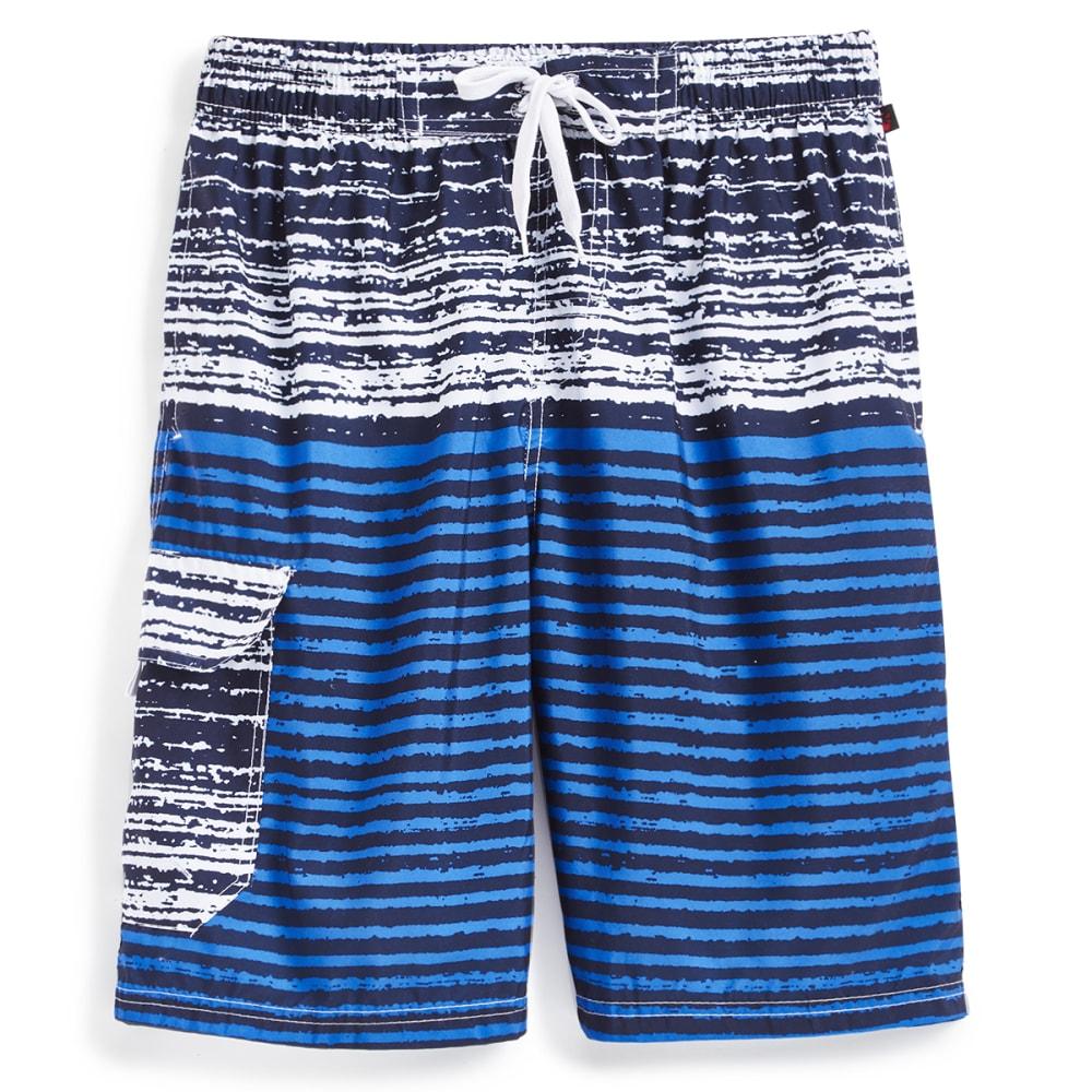 BLUE GEAR Men's Solid Bottom Boardshorts - SAPPHIRE-1