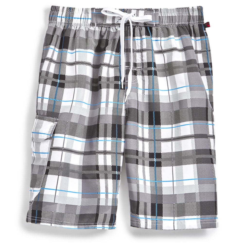 Blue Gear Men's Plaid Boardshorts