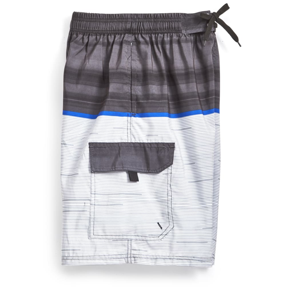 BLUE GEAR Men's Color-Block Boardshorts - BLACK-2