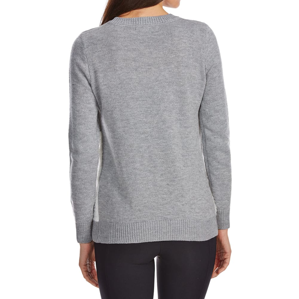 ABSOLUTELY FAMOUS Women's Snowman Christmas Sweater - GREY HEATHER COMBO