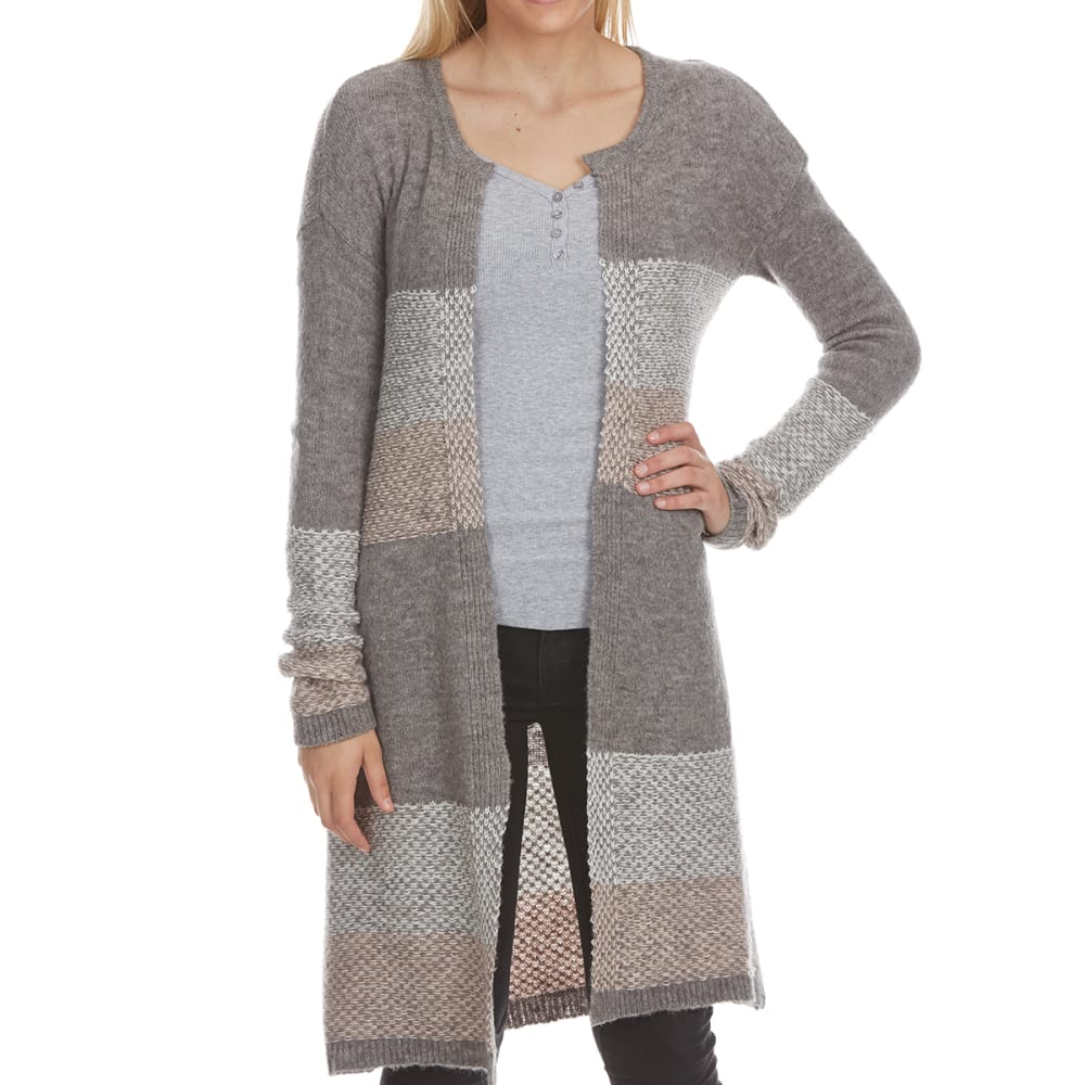 ABSOLUTELY FAMOUS Women's Mossy Color-Block Duster - GREY COMBO