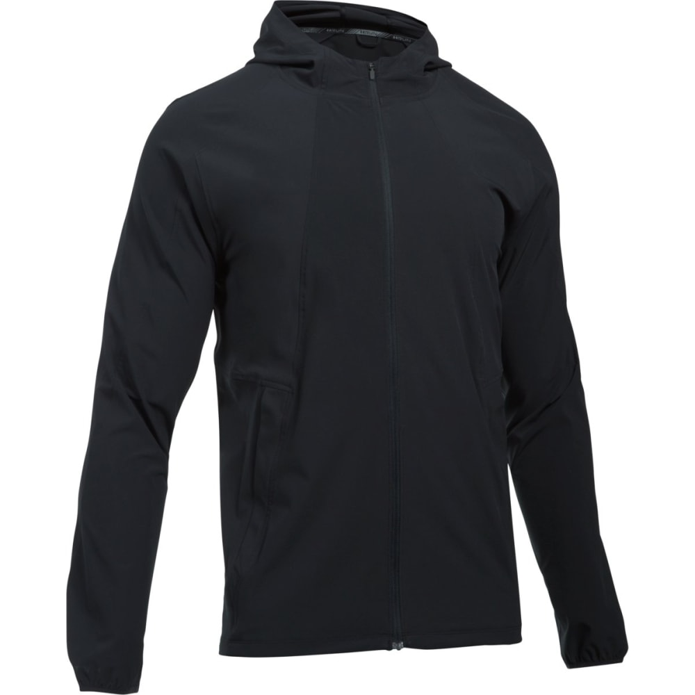 UNDER ARMOUR Men's UA Outrun The Storm Full-Zip Running Jacket - BLACK-001