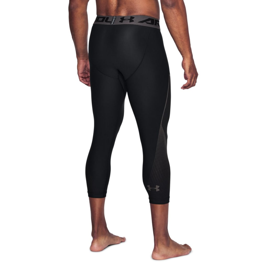 UNDER ARMOUR Men's HeatGear Armour Graphic ¾-Length Tights - BLACK-001