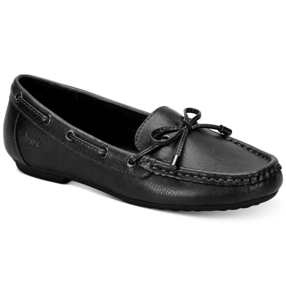 B.o.c. Women's Carolann Moccasins, Black, Wide