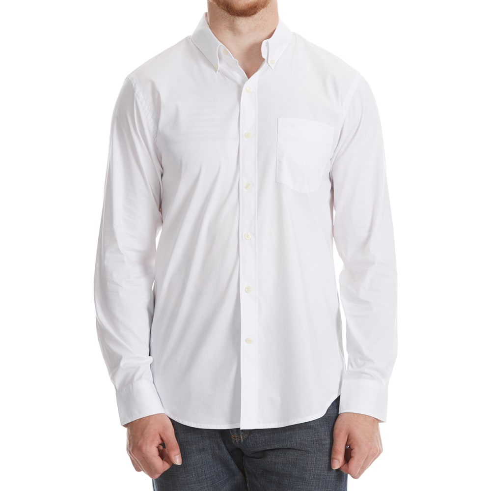 DOCKERS Men's Comfort Stretch Woven Long-Sleeve Shirt - WHITE SOLID-0030