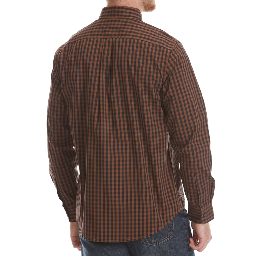 DOCKERS Men's Comfort Stretch Woven Long-Sleeve Shirt - SIERRA BRN GRID-0050