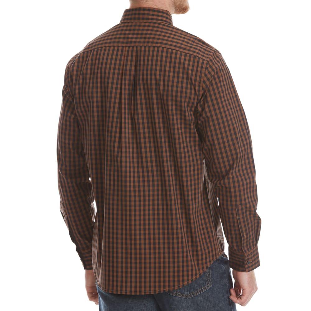 DOCKERS Men's Comfort Stretch Woven Long-Sleeve Shirt - SIERRA BRN GRID-0050