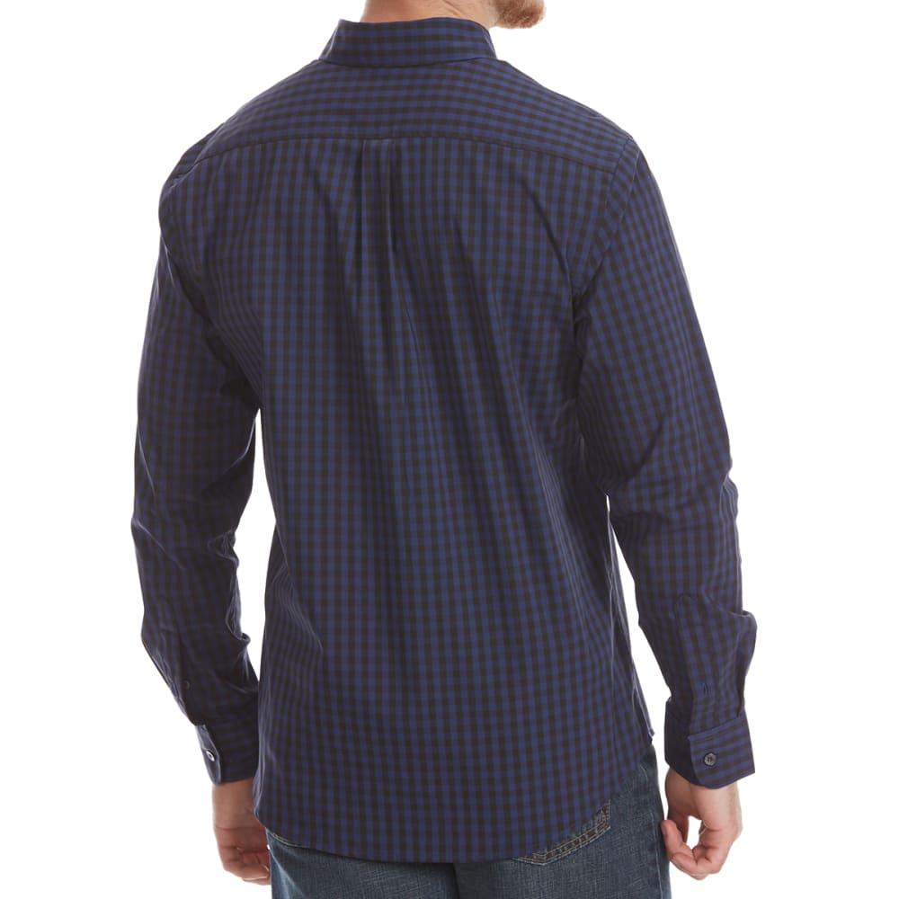 DOCKERS Men's Comfort Stretch Woven Long-Sleeve Shirt - MEDIEVL BL GRID-0035