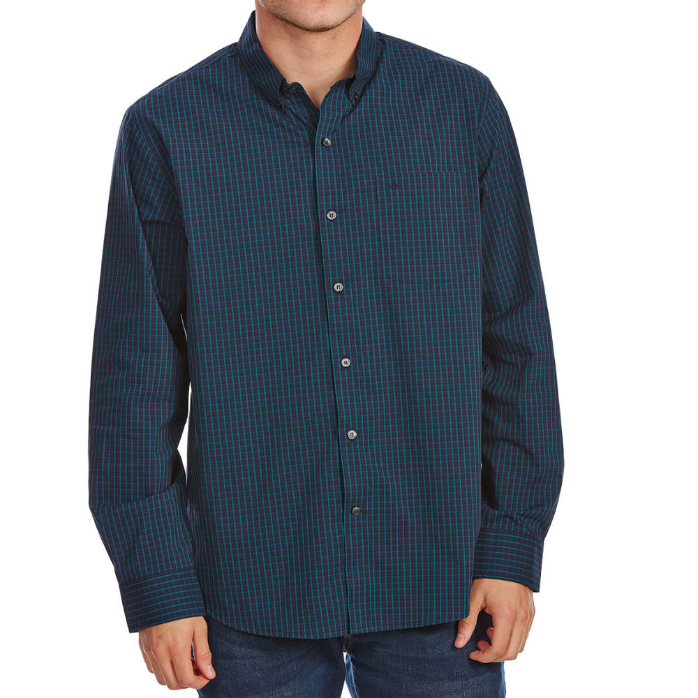 Dockers Men's Comfort Stretch Woven Long-Sleeve Shirt - Blue, M