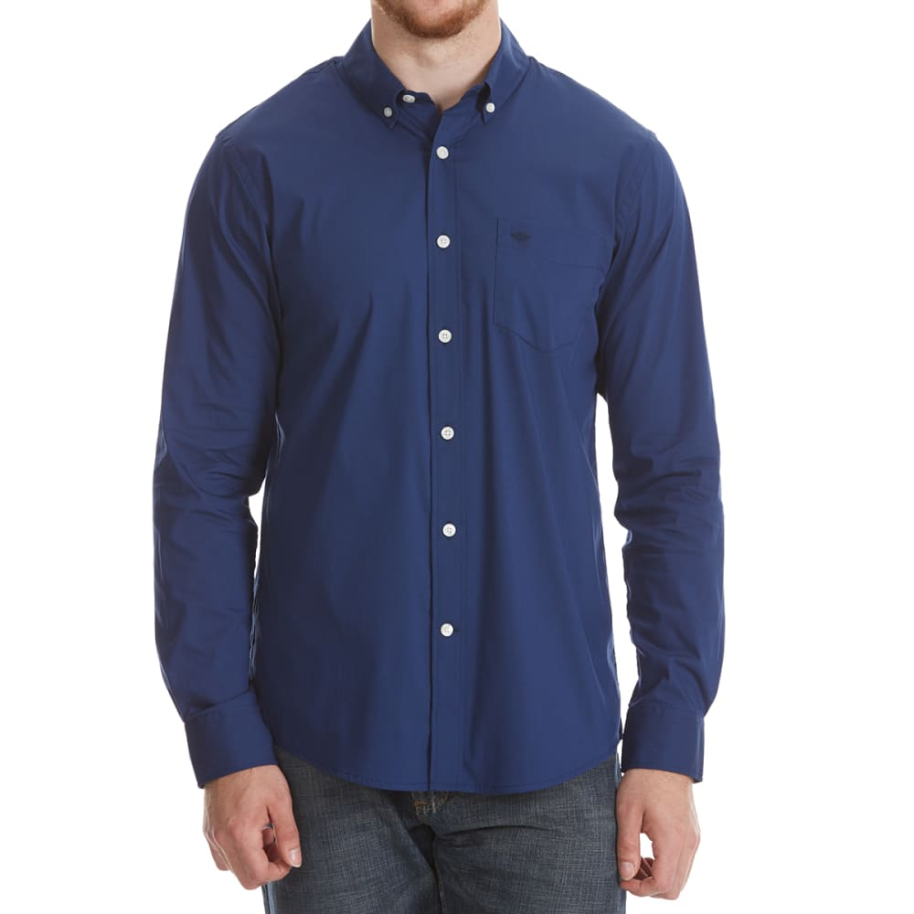 DOCKERS Men's Comfort Stretch Woven Long-Sleeve Shirt - MEDIEV BL SOLID-0029