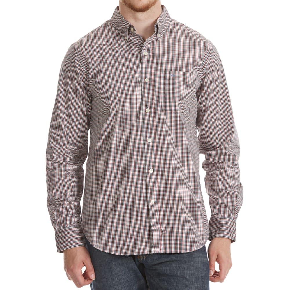 DOCKERS Men's Comfort Stretch Woven Long-Sleeve Shirt - OXBLOOD RD PLD-0059