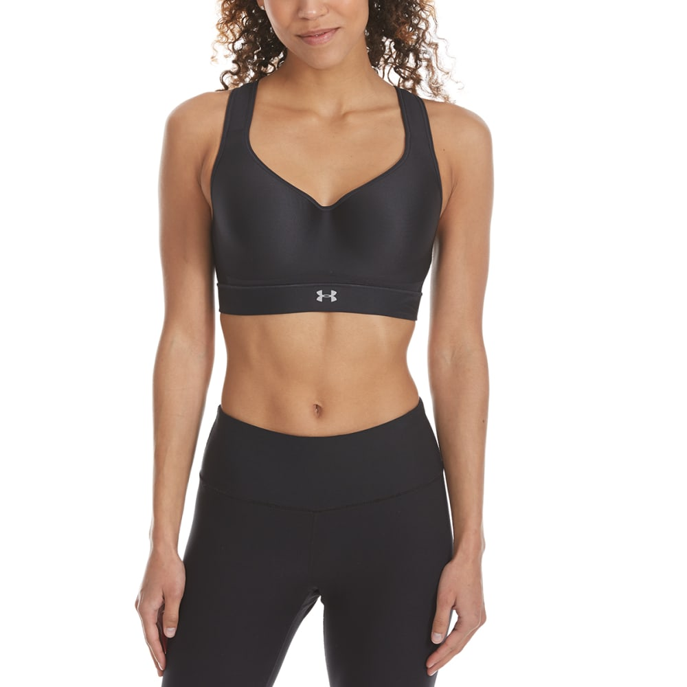 UNDER ARMOUR Women's Warp Knit High-Impact Bra - BLACK-001