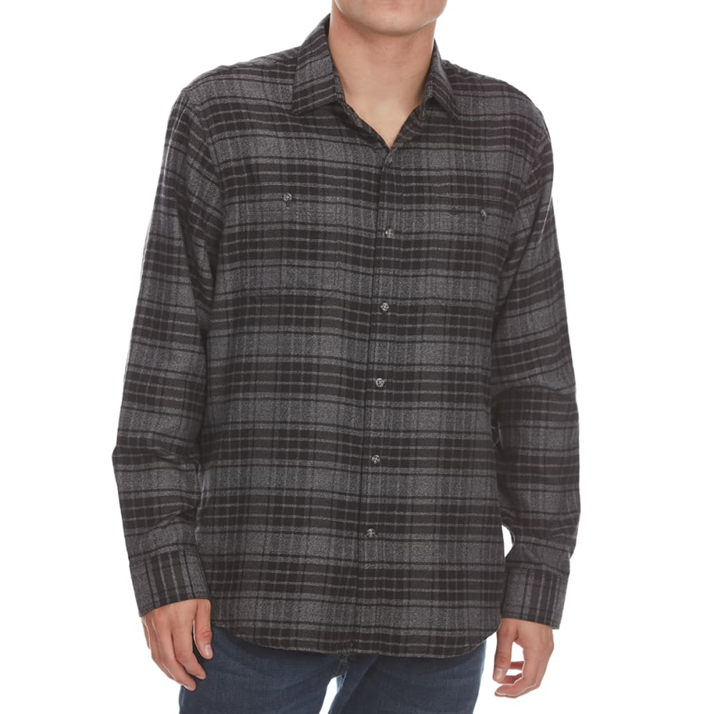 DOCKERS Men's Jaspe Woven Long-Sleeve Shirt - BLACK PLD-0005
