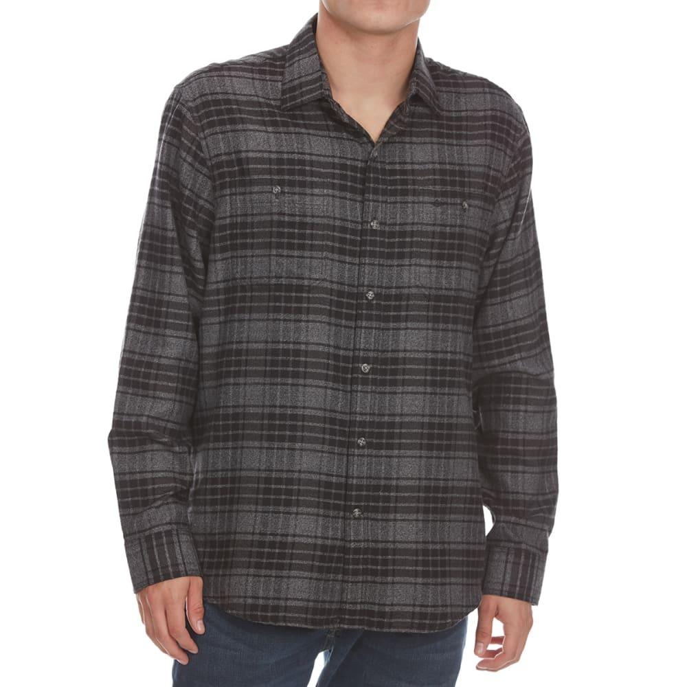 DOCKERS Men's Jaspe Woven Long-Sleeve Shirt - BLACK PLD-0005
